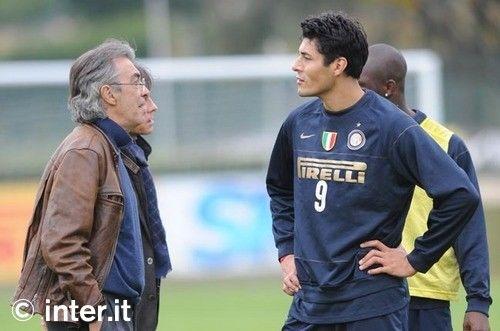 Foto: derby/2, Moratti con la squadra
