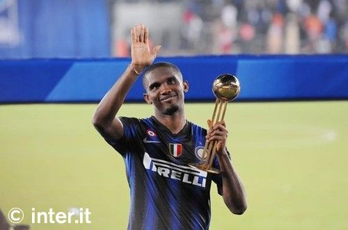 Eto'o wins the African Ballon d'Or