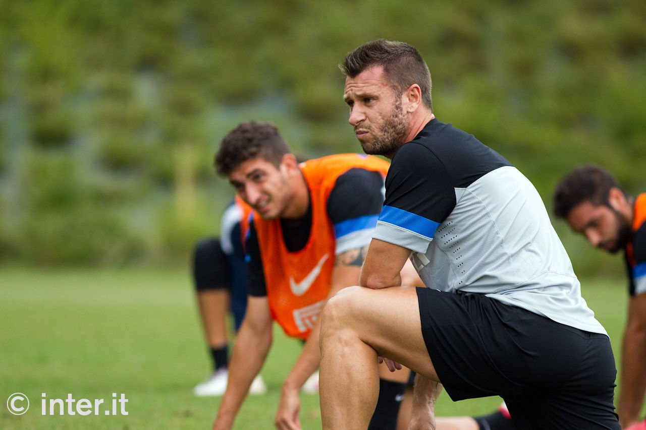 Photos: on the pitch with Cassano and Gargano