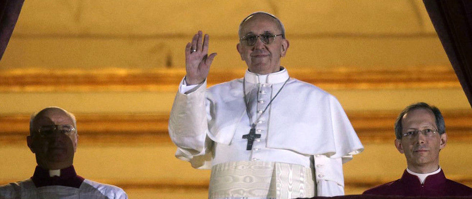Inter welcome the new Holy Father, Pope Francis