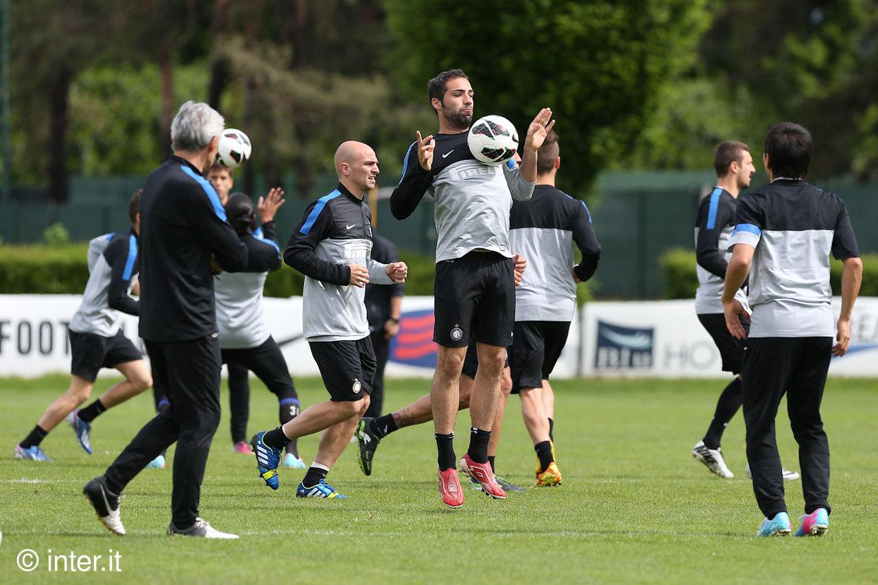 """Ultima della stagione al """"Meazza"""", l'Inter si allena per l'Udinese"""