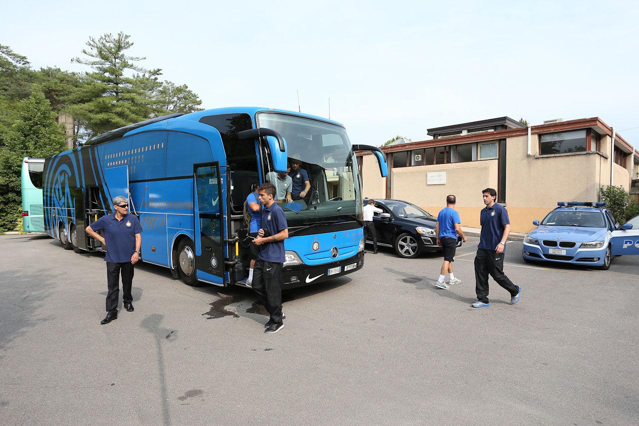 Con el Inter, destino Pinzolo