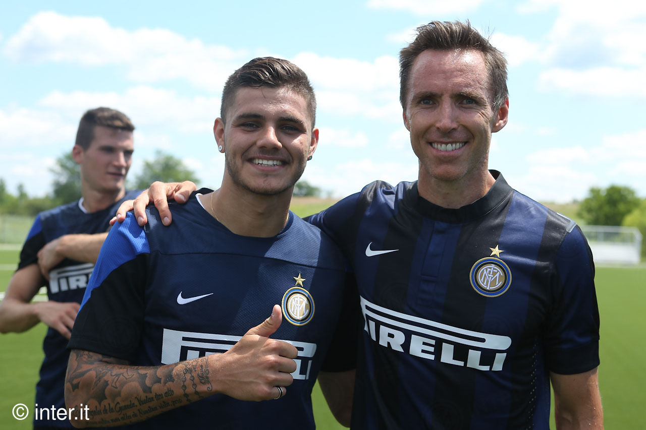 Steve Nash with Inter at New York Red Bulls Training Facility