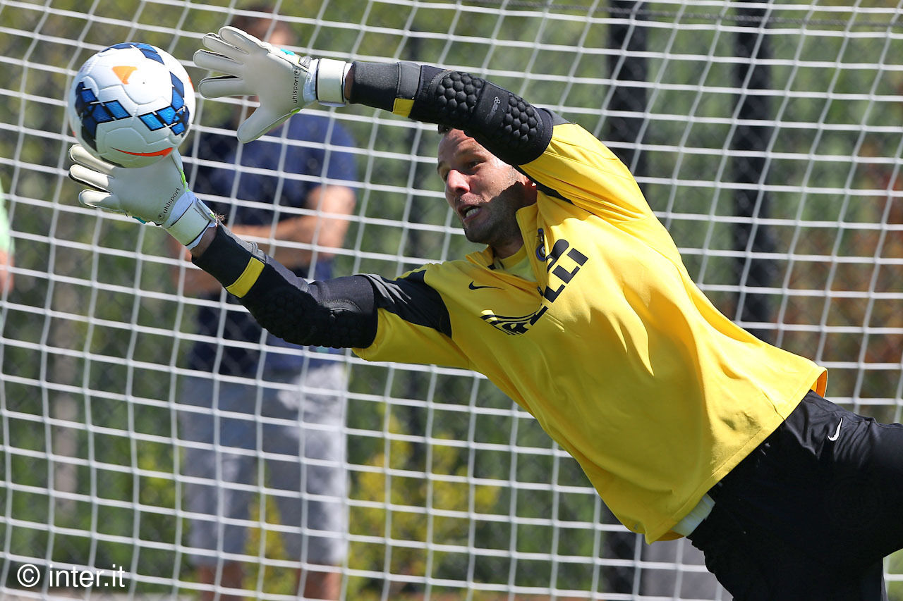 Inter's goalkeepers in afternoon training
