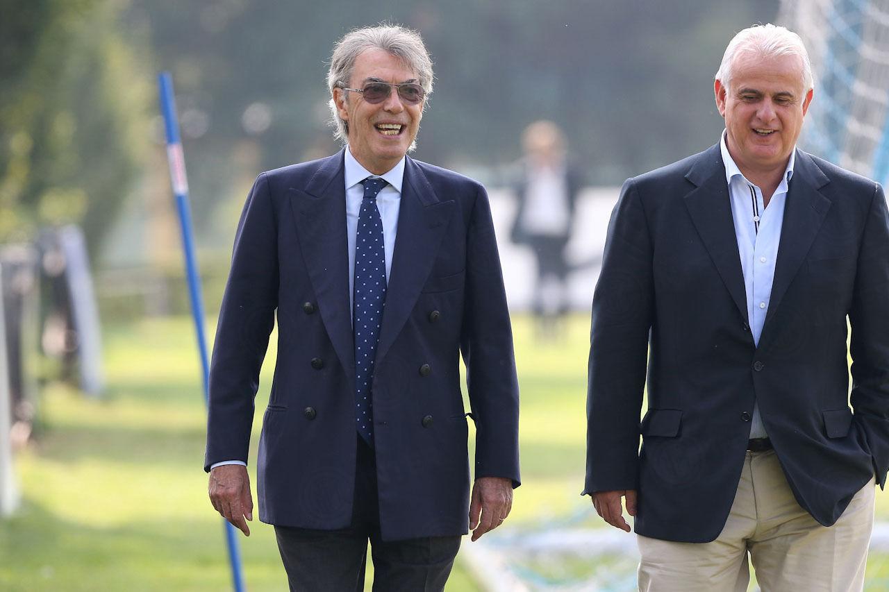 モラッティ会長が見守る中、サッスオーロ戦に向けてトレーニング