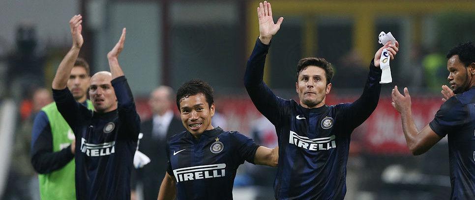 Nagatomo mempersembahkan golnya untuk Zanetti dan Cordoba