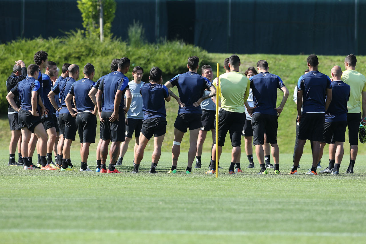 Inter v Lazio, images from training