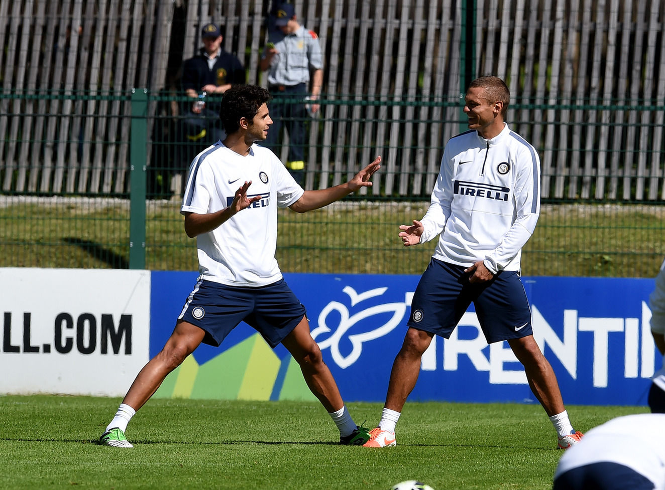 Morning workout in the Pinzolo sun for Inter