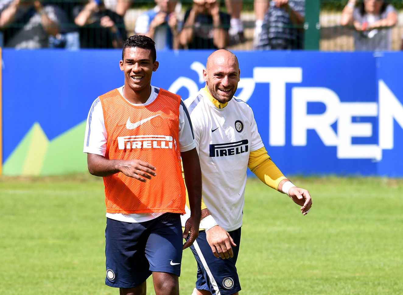M'Vila's first training session with Inter