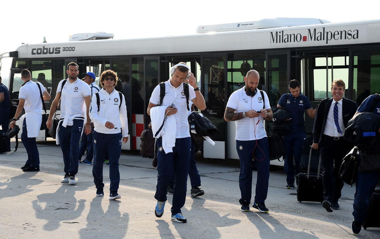 ヨーロッパリーグの戦いに向け、キエフに出発