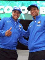 Murillo e Guarin in visita al Padiglione Colombia