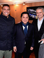 Mourinho e Ronaldo a San Siro per Inter-Sampdoria