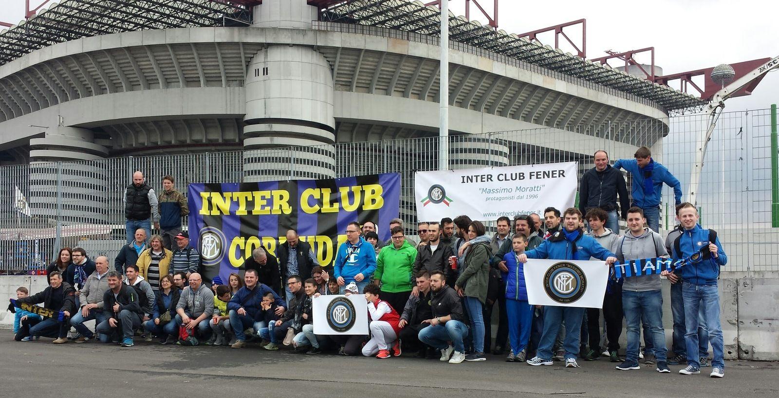 Gli Inter Club Fener e Cornuda festeggiano a San Siro