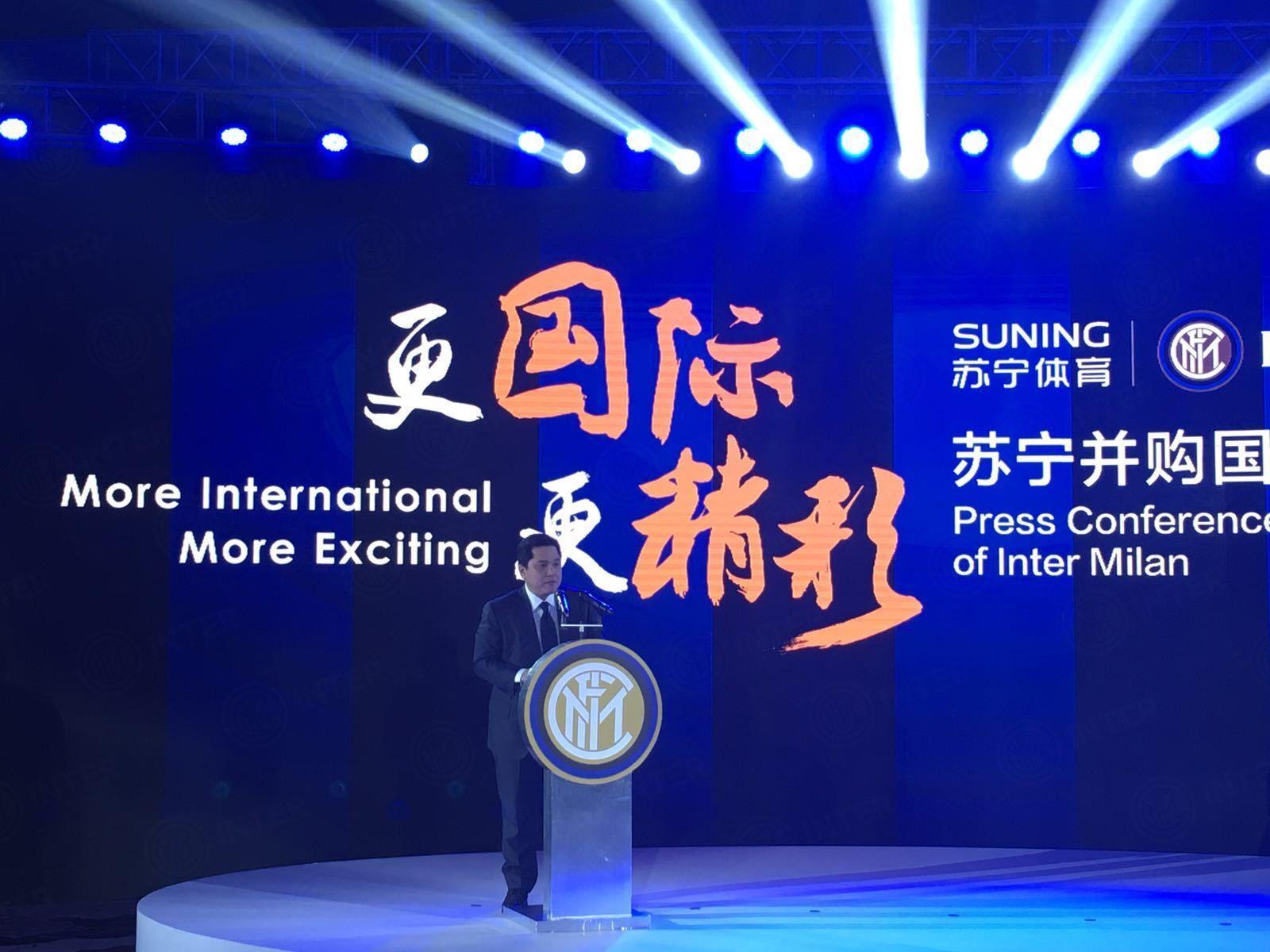 Le parole di Zhang Jindong ed Erick Thohir in conferenza