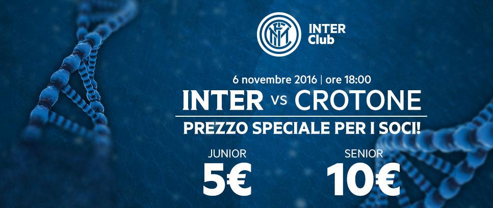 Inter-Crotone, partita speciale per gli Inter Club
