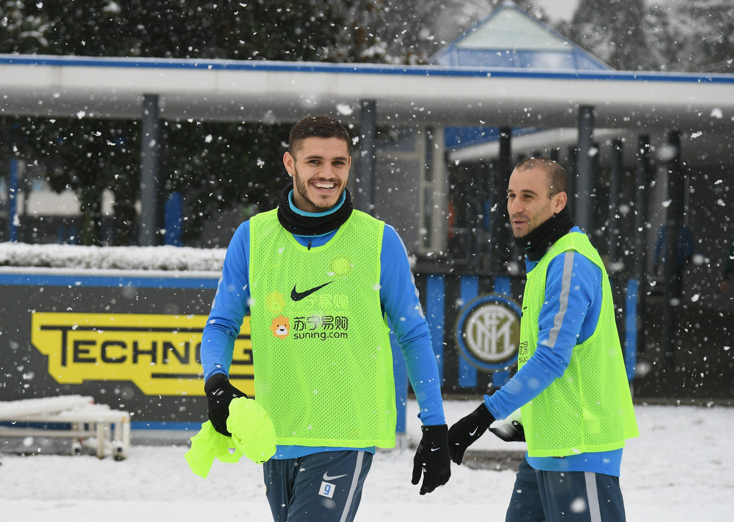 Snowy session in Appiano ahead of Empoli