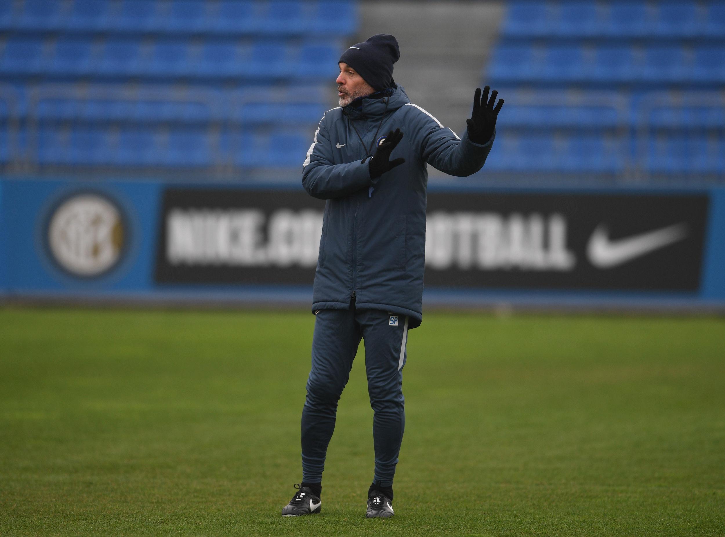 Latihan sore sebelum menghadapi Empoli