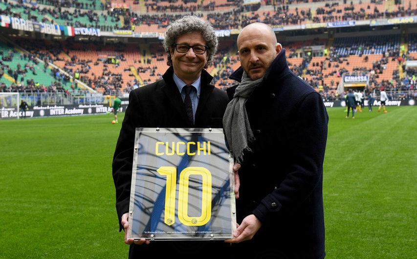 Il saluto dell'Inter a Riccardo Cucchi