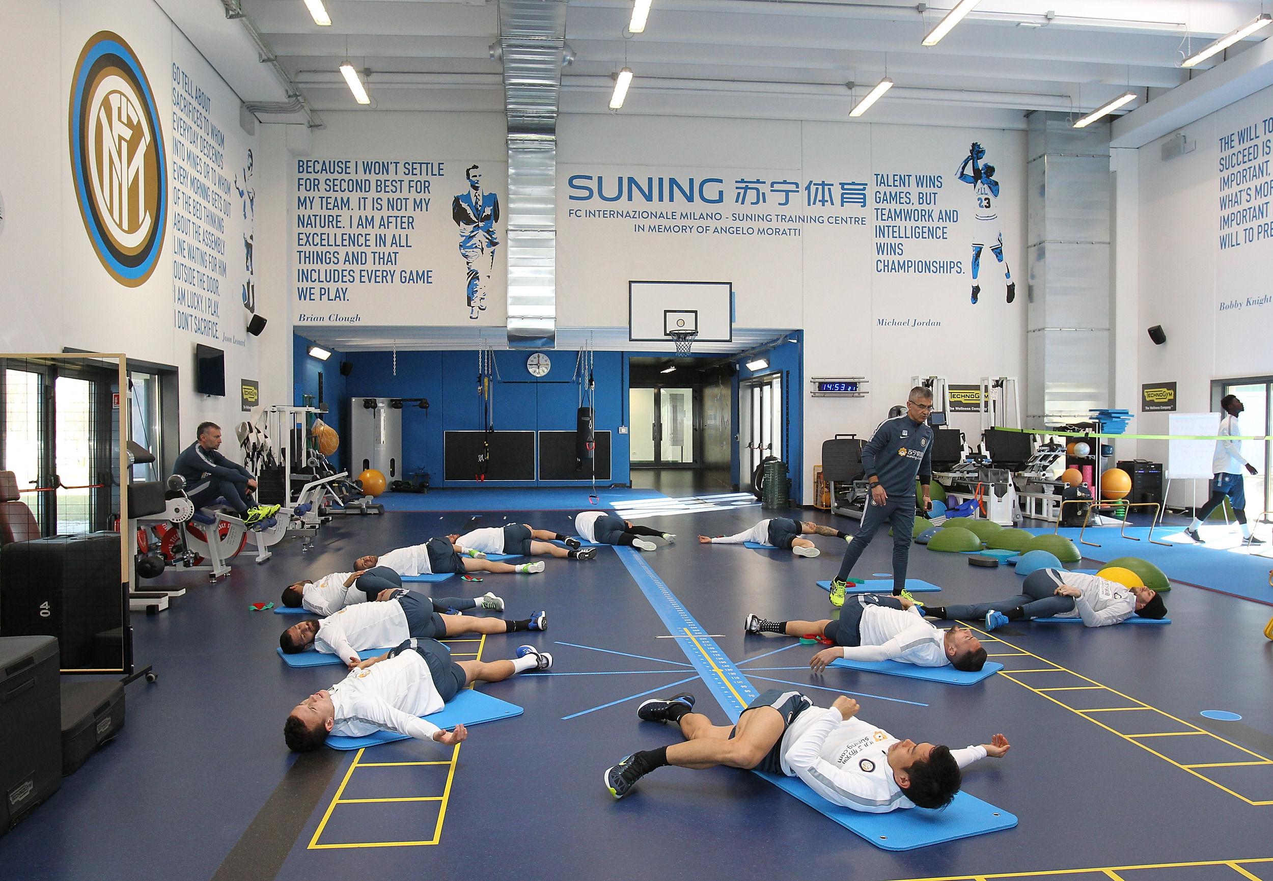 Primo allenamento verso Inter-Roma