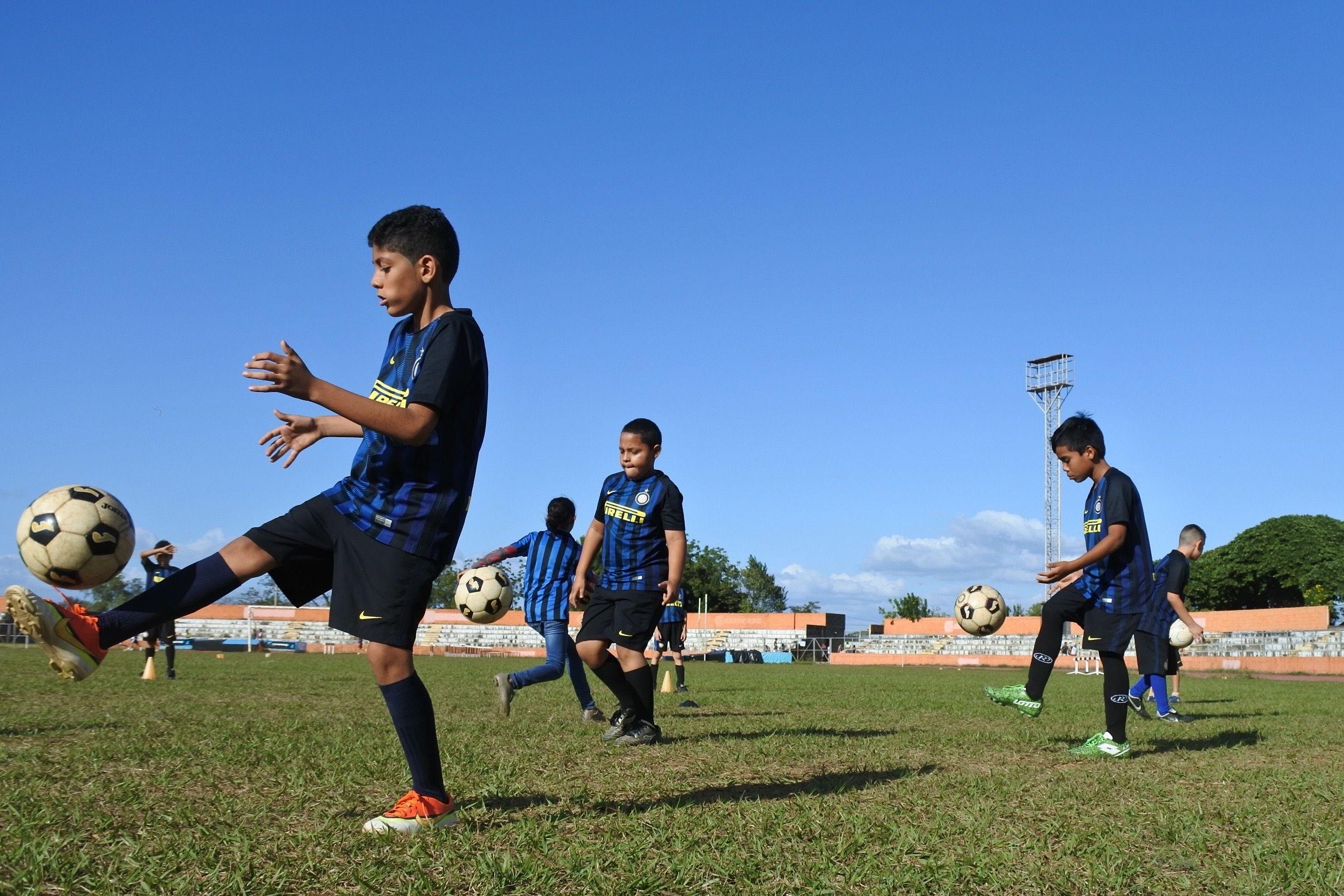 尼加拉瓜的国米公益学校进步喜人