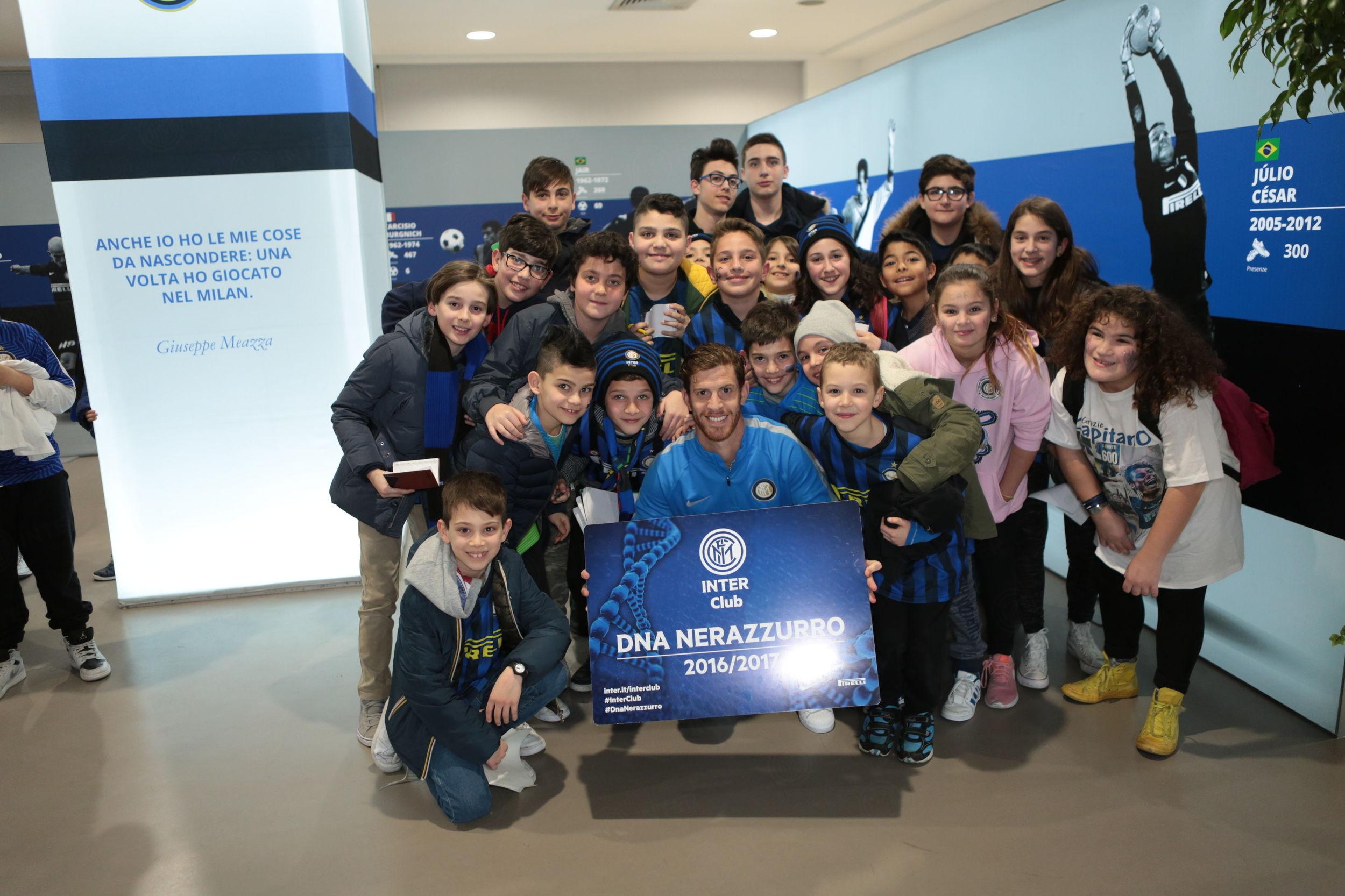 Ansaldi meets Inter Club junior members