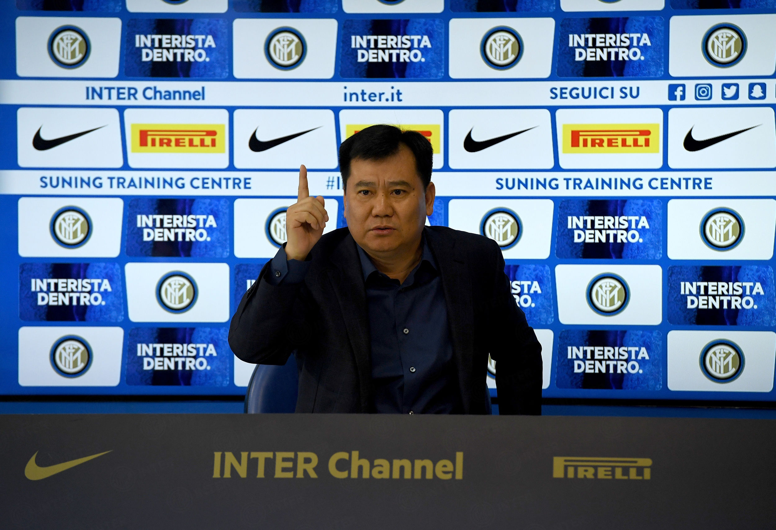 Jindong Zhang al Centro Sportivo Suning