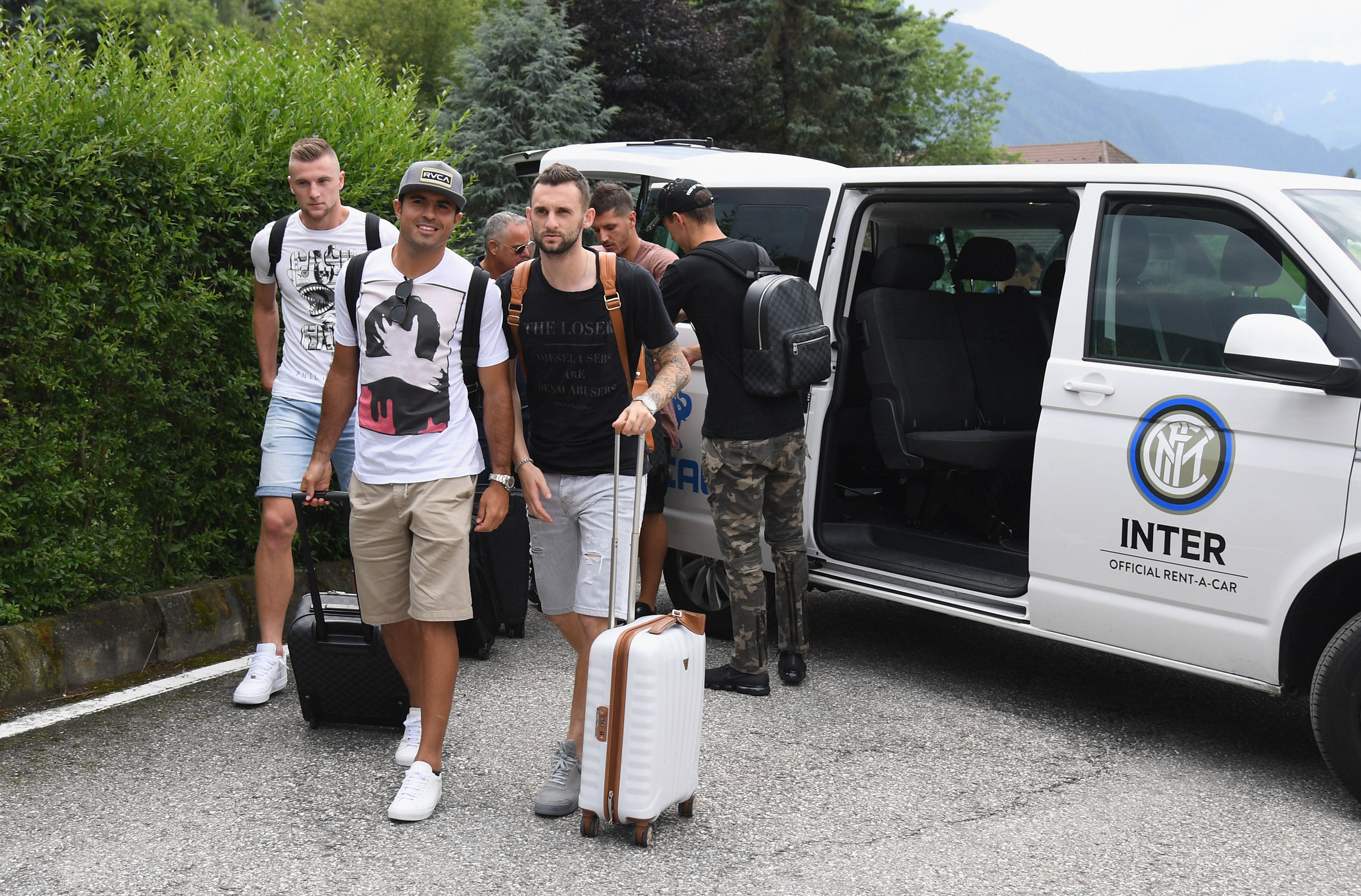 Eleven Inter players arrive in Brunico