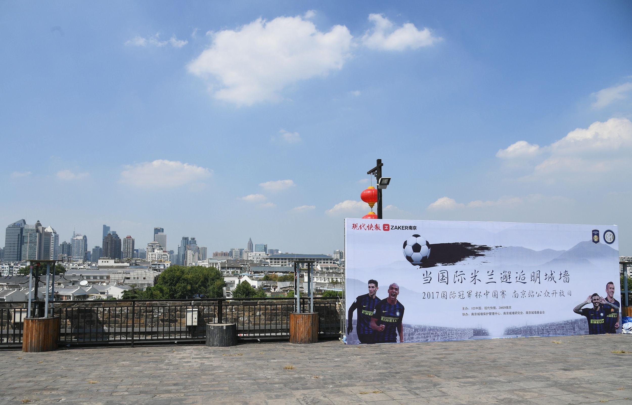 #InterSummerTour, i colori nerazzurri sulle mura di Nanchino