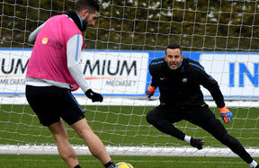 Training on the eve of AC Milan vs. Inter