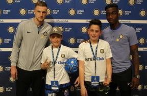 Skriniar e Karamoh, Meet&Greet coi soci junior di Bergamo