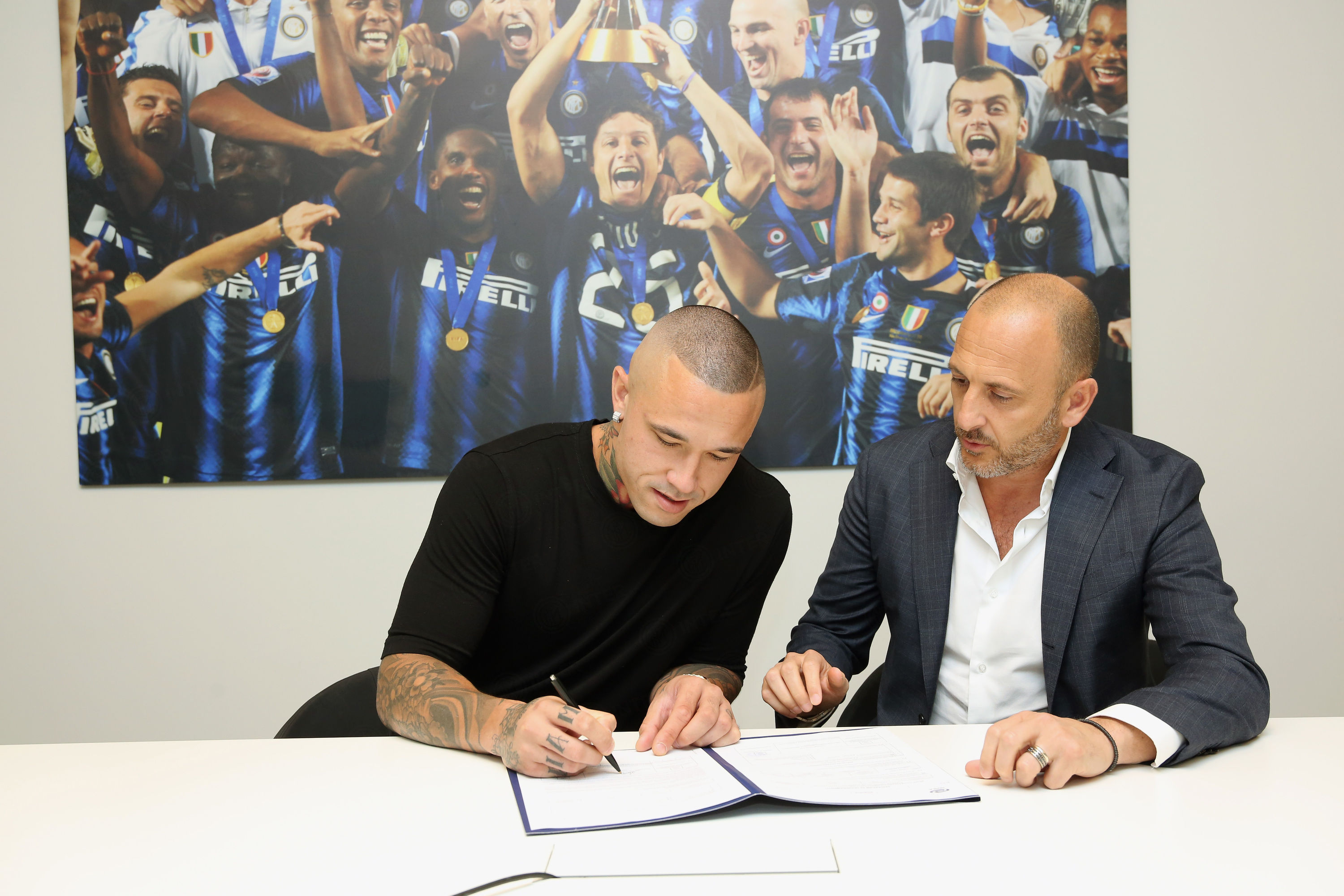 #Radjala! Nainggolan's first day as a Nerazzurri player