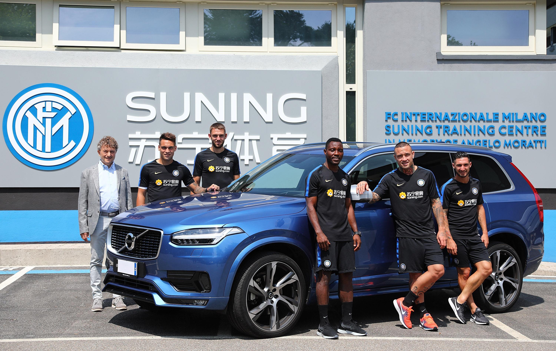 Consegnate le auto Volvo ai nuovi giocatori nerazzurri