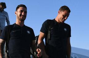 L'arrivo della squadra a Madrid
