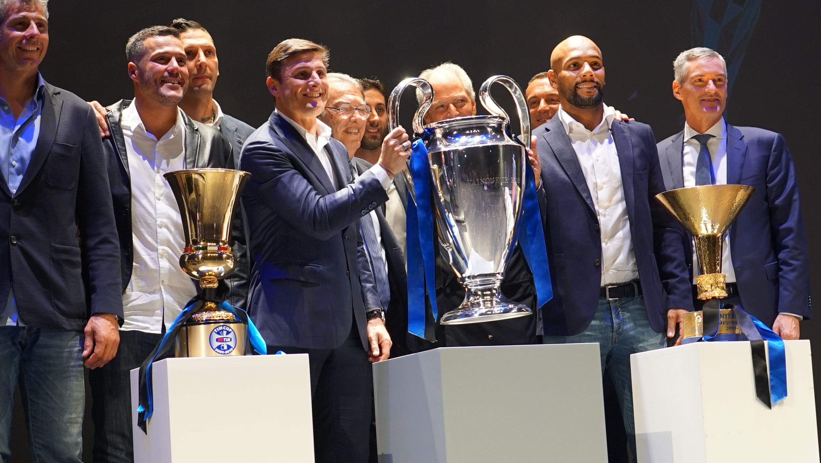 Treble-winning Inter side at the Festival dello Sport in Trento