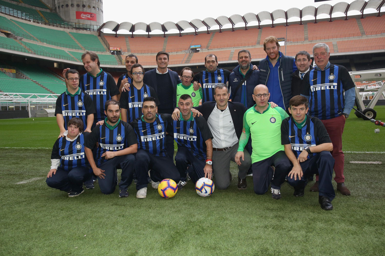 Zanetti incontra i giocatori dell'associazione Sporting 4e