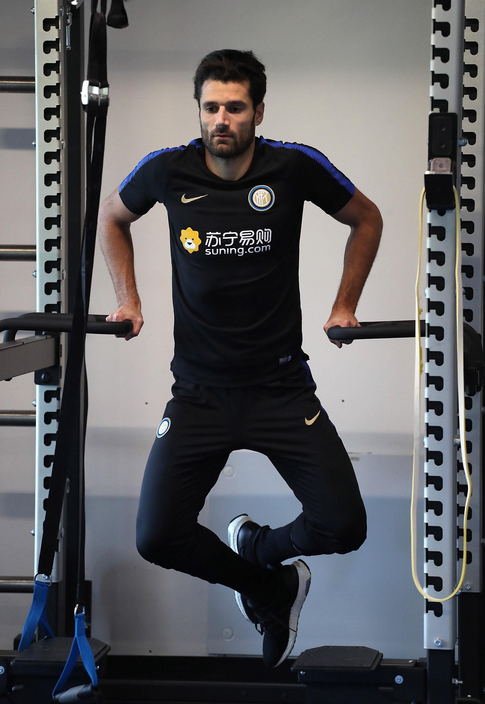 Nerazzurri training during the international break