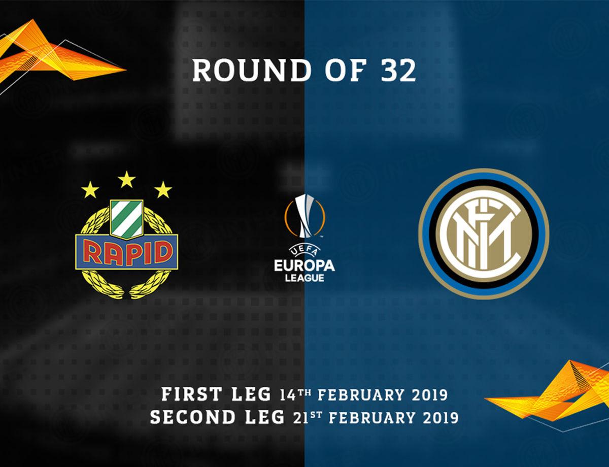 UEL, l'Inter affronterà il Rapid Vienna nei sedicesimi di finale