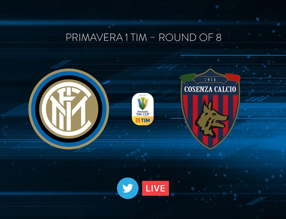 Primavera TIM Cup, Inter-Cosenza in diretta su Twitter e Inter TV