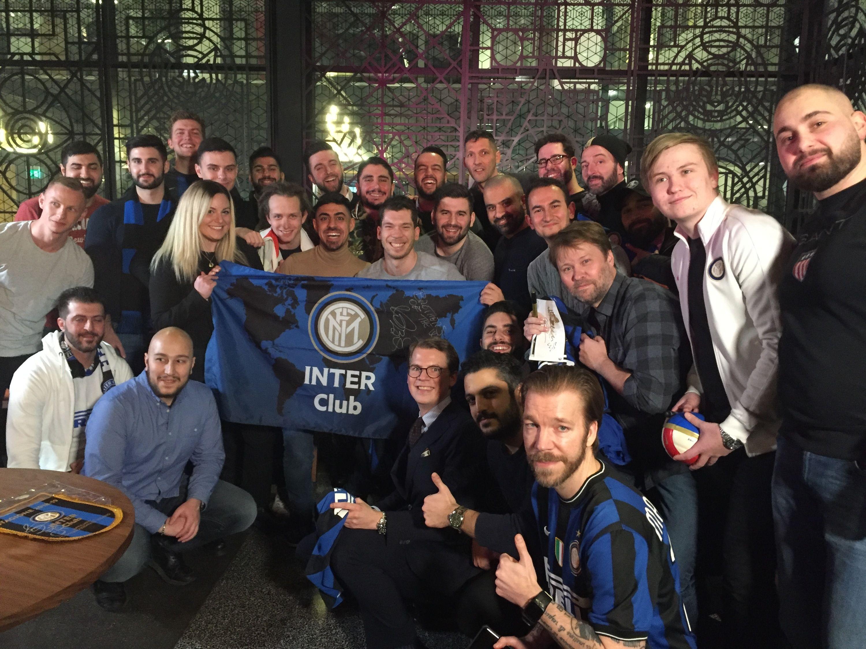 Materazzi a Stoccolma con l'Inter Club Svezia