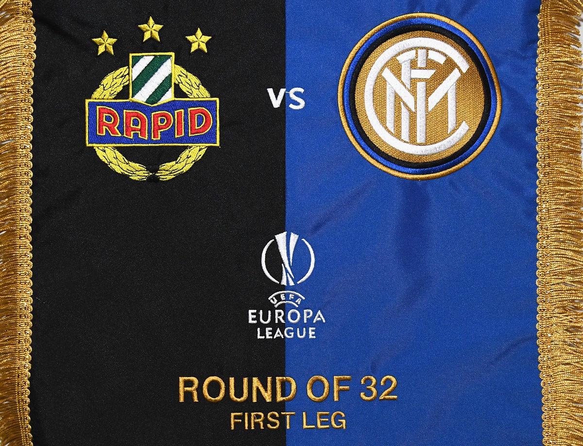 UEL, Las alineaciones oficiales para el Rapid vs. Inter