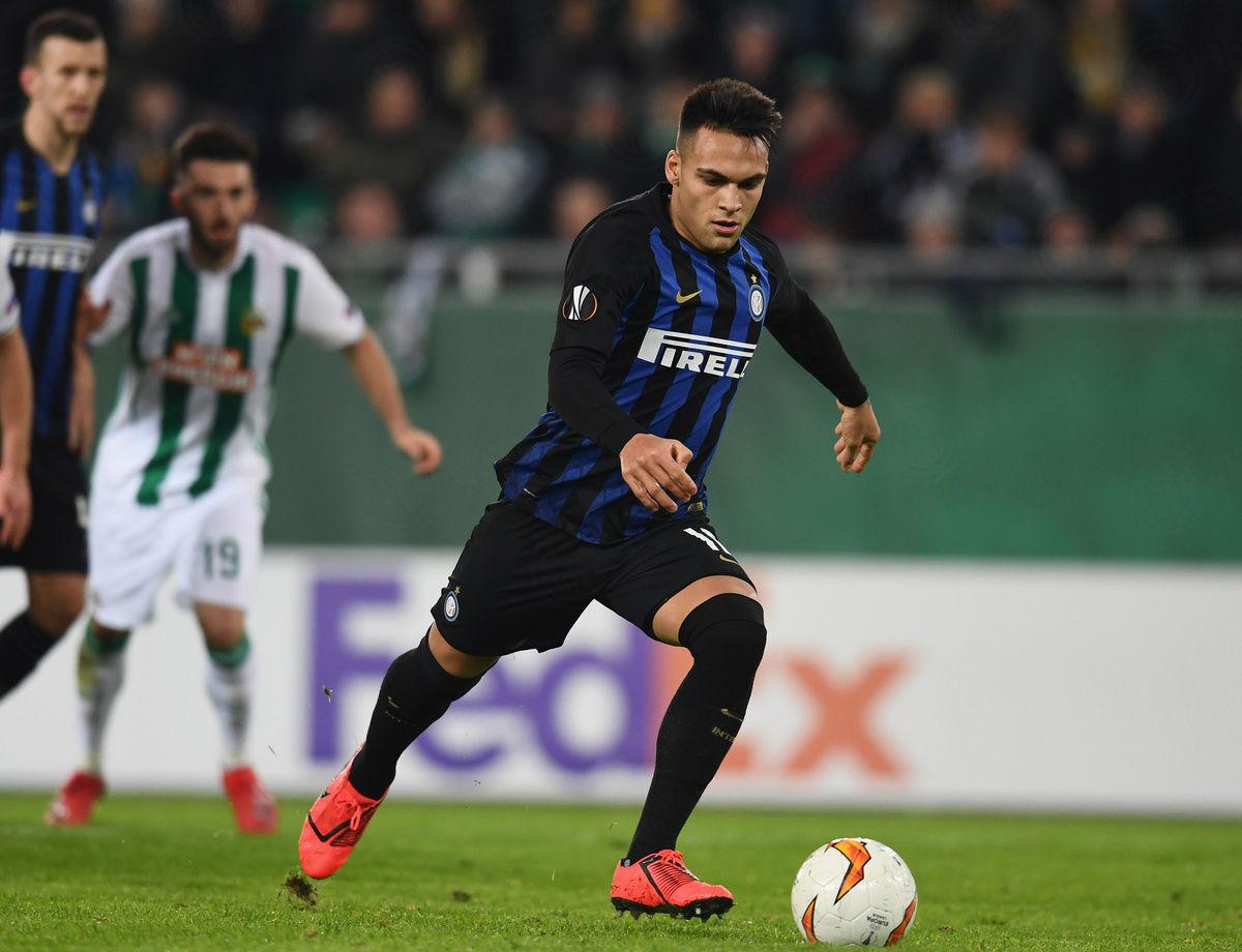 Lautaro dal dischetto, Rapid Vienna-Inter 0-1