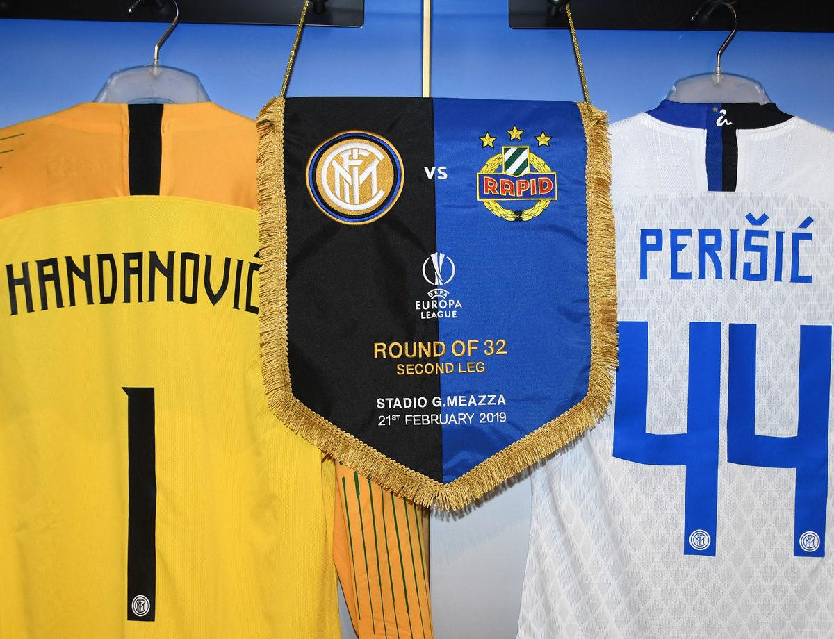UEL, las alineaciones para el Inter vs. Rapid de Viena
