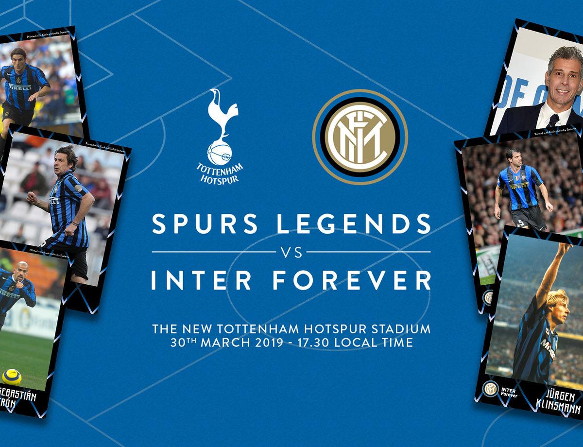Inter Forever-Tottenham Spurs Legend: dove vedere il match in tv