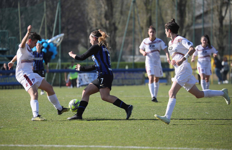 Perayaan #InterWomen setelah kemenangan 6-0 atas Arezzo