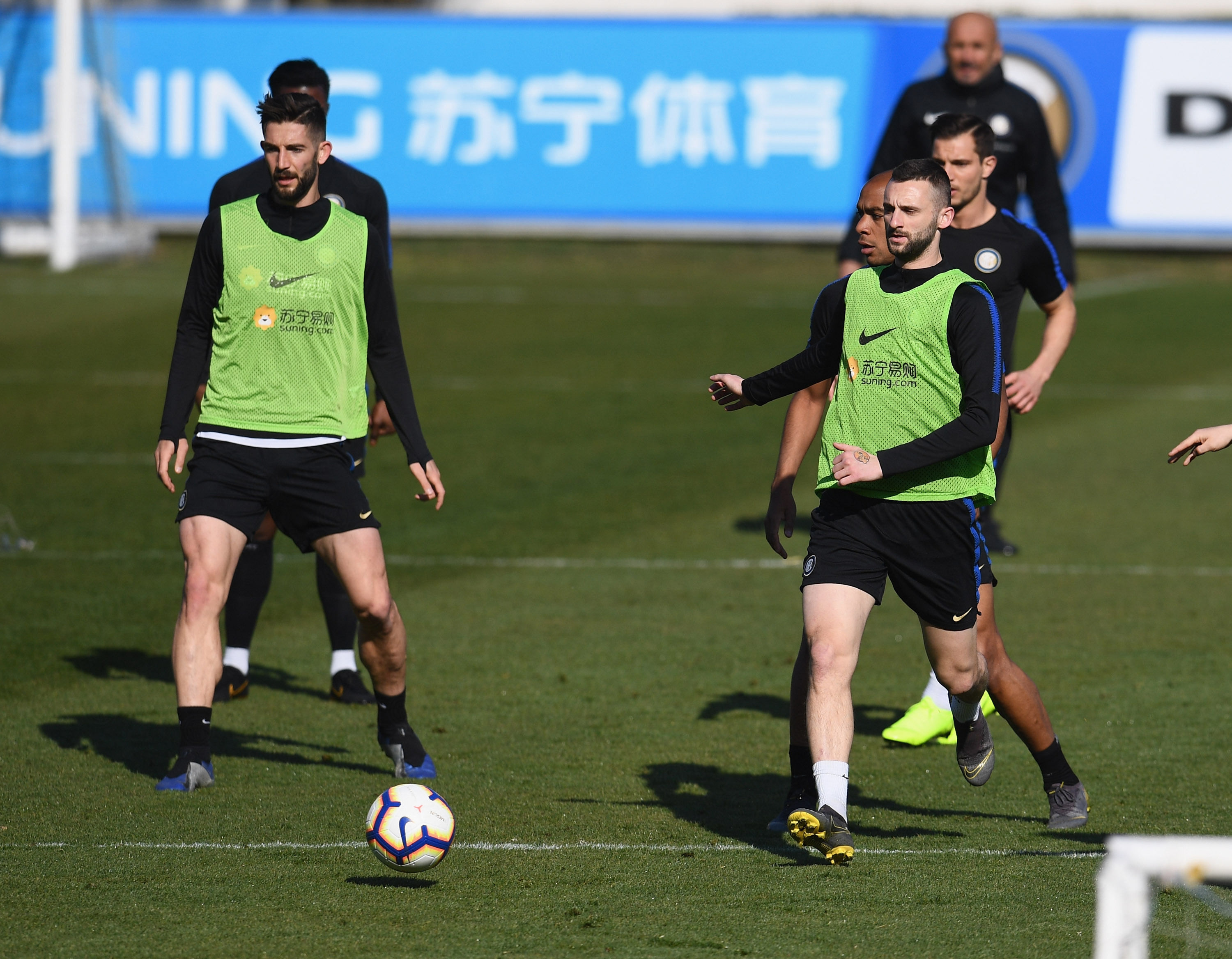 Ball possession and tactical work for the team ahead of Inter vs. Lazio