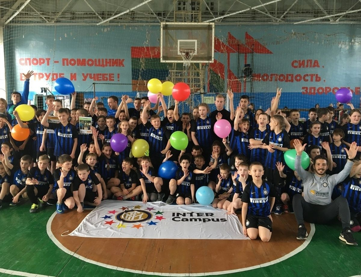 Inter Campus and Pirelli, a party for the children