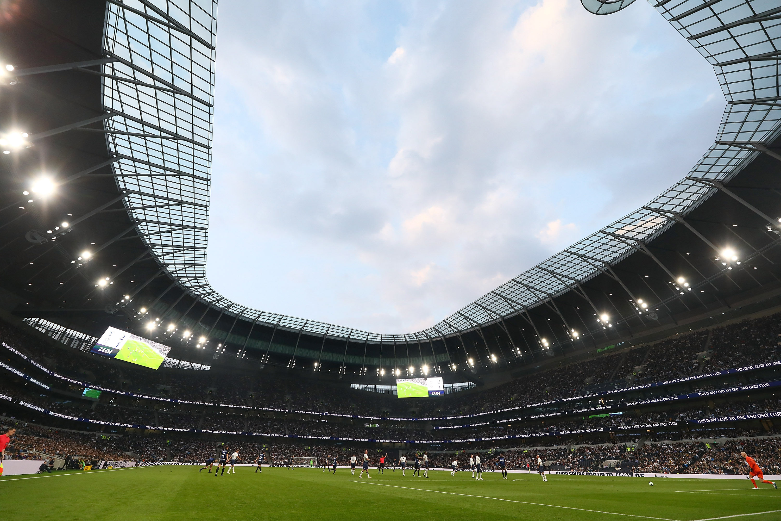 Show for Inter Forever at the new Tottenham Hotspur Stadium