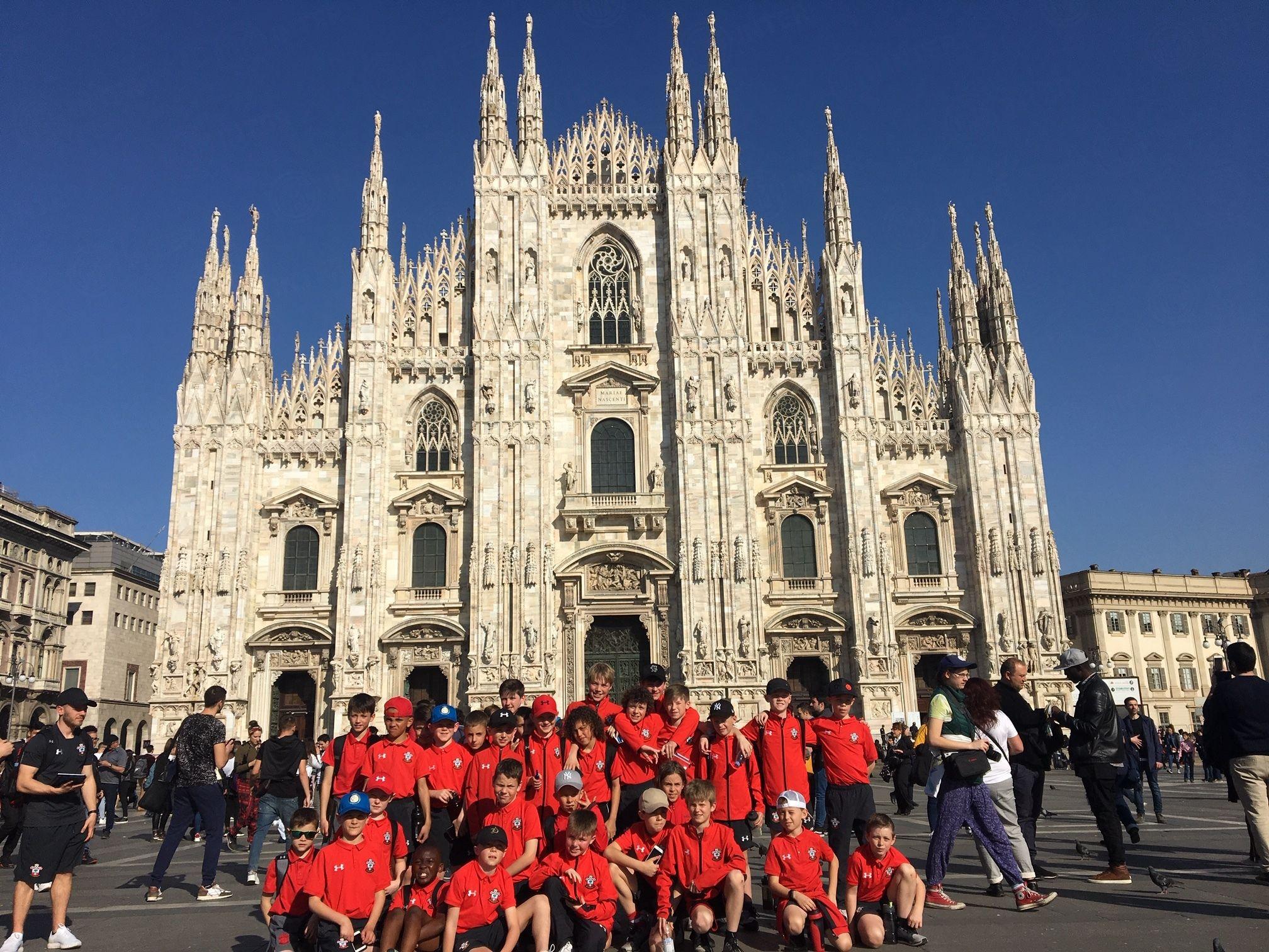 Partite e visita in città: i ragazzi del Southampton ospiti dell'Inter