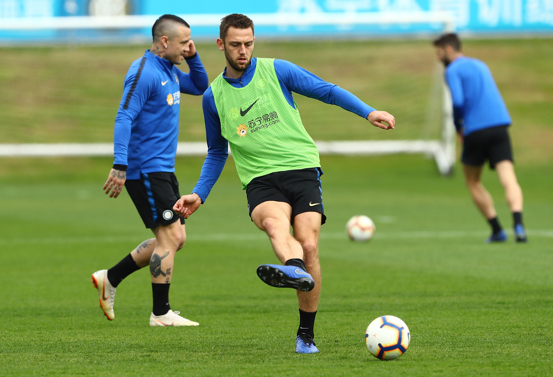 Rondos, technical and tactics training ahead of Frosinone vs. Inter