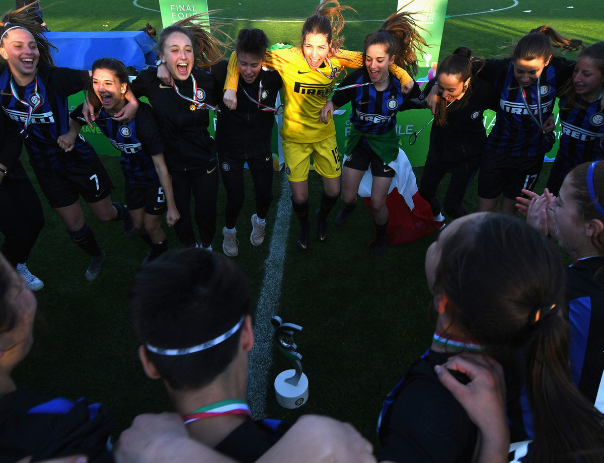 Under-19, Inter Women vs. Roma: Comments after the Scudetto celebrations